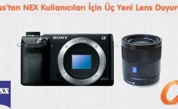 Zeiss'tan NEX Kullanıcıları İçin Üç Yeni Lens Duyurusu