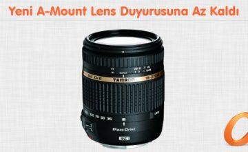 Yeni A-Mount Lens Duyurusuna Az Kaldı