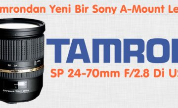 Tamrondan Yeni Bir Sony A-Mount Lens SP 24-70mm F/2.8 Di USD (Model A007)
